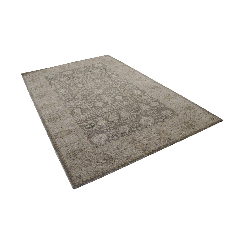 Obeetee Obeetee Flatweave Beige Wool Rug used