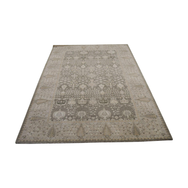 buy Obeetee Flatweave Beige Wool Rug Obeetee Decor