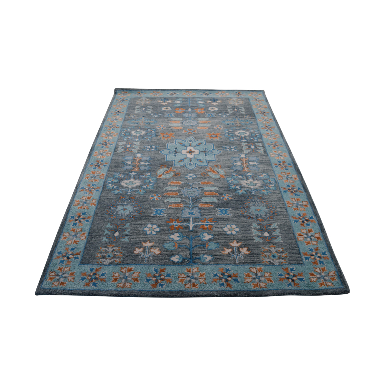 buy Obeetee Flatweave Multi Colored Blue Wool Rug Obeetee Decor