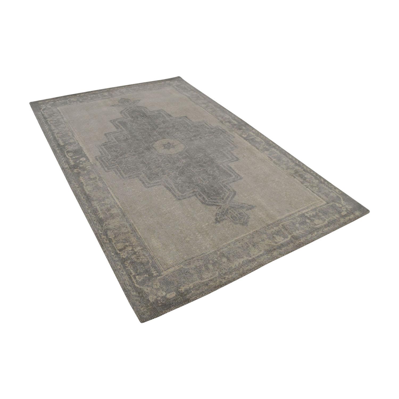 Obeetee Obeetee Flatweave Grey Wool Rug discount