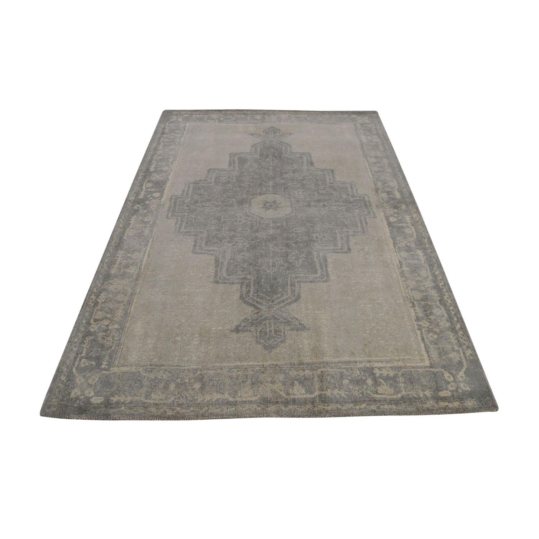Obeetee Flatweave Grey Wool Rug sale