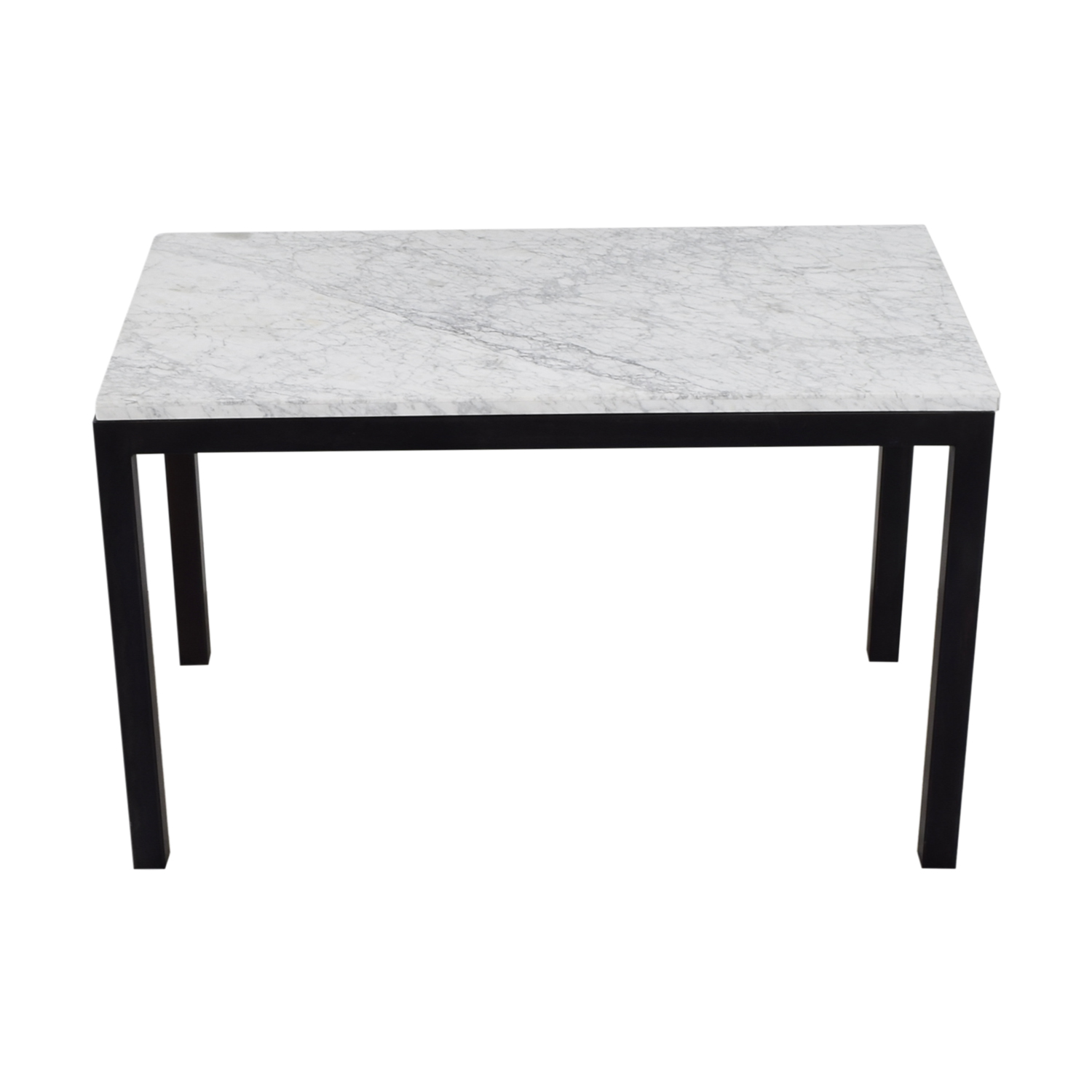 Crate & Barrel Crate & Barrel Parsons Marble Top Steel Base Dining Table nj