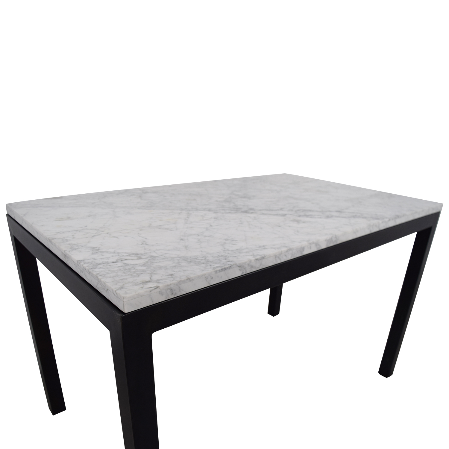 60 Off Crate Barrel Parsons Marble Top Steel Base Dining Table Tables