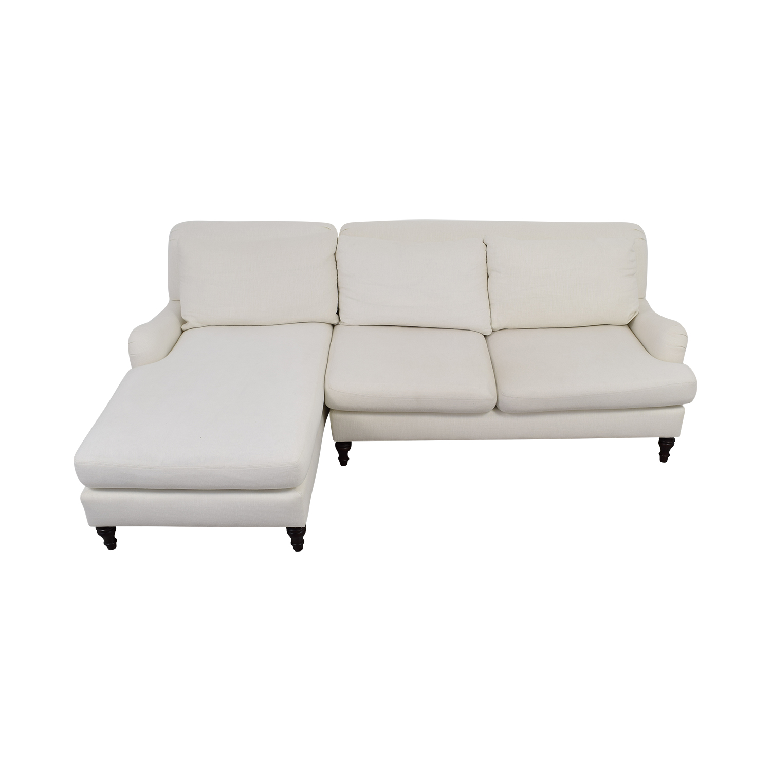 Pottery Barn Pottery Barn Carlisle White Chaise Sectional second hand