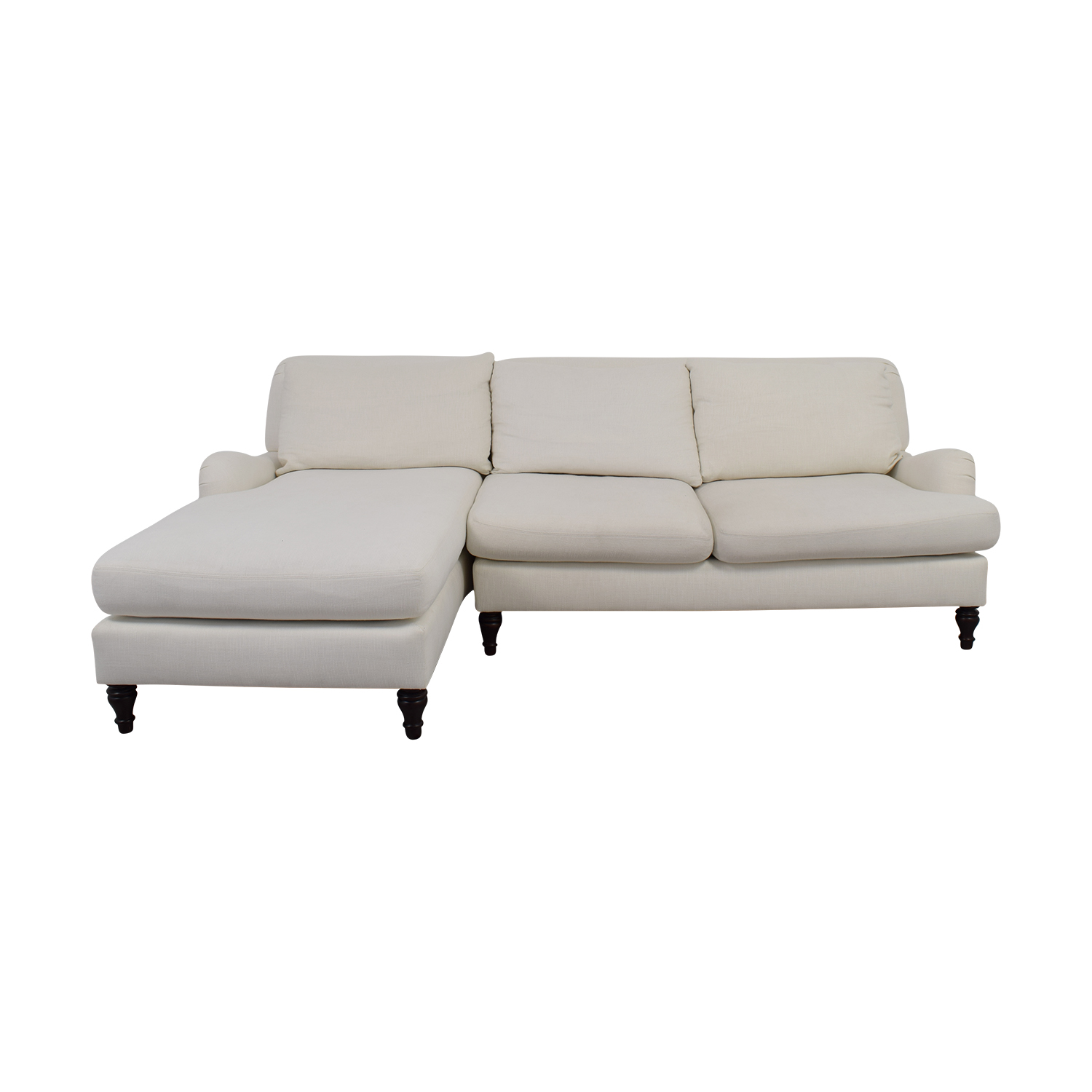 shop Pottery Barn Carlisle White Chaise Sectional Pottery Barn Sectionals