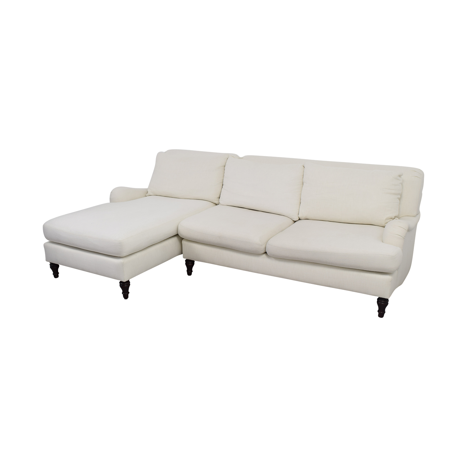 31 Off Pottery Barn Pottery Barn Carlisle White Chaise Sectional Sofas