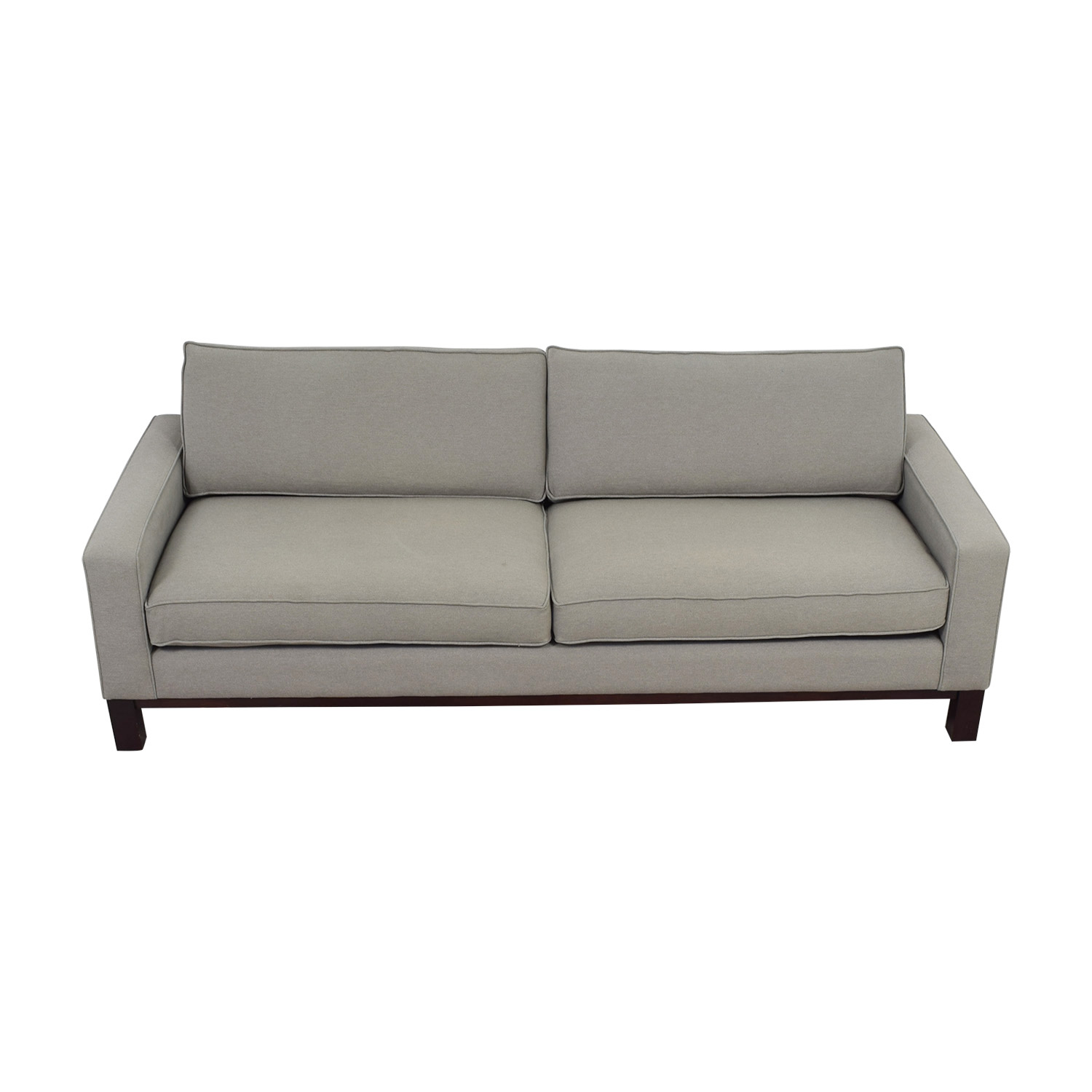 Room & Board Grey Two-Cushion Sofa sale