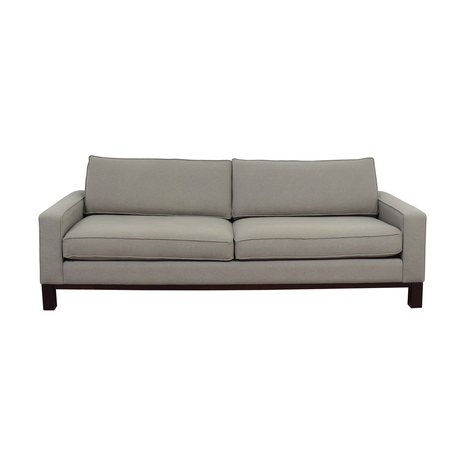 Room and Board Room & Board Grey Two-Cushion Sofa dimensions
