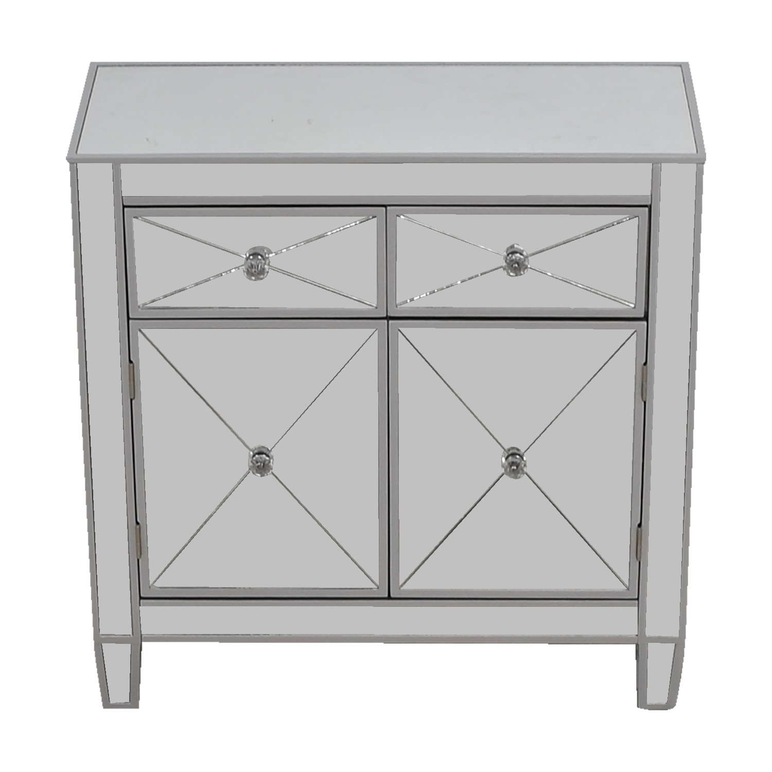 Wayfair Wayfair Two-Drawer Mirrored Dresser dimensions
