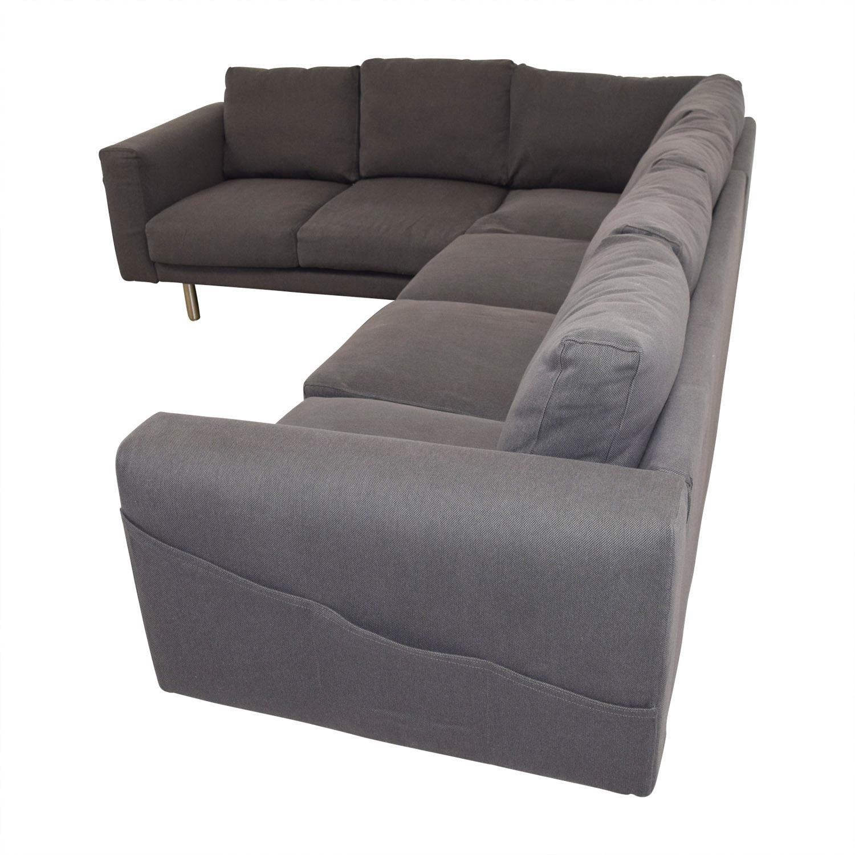 53 Off Ikea Ikea Norsborg Grey L Shaped Sectional Sofas