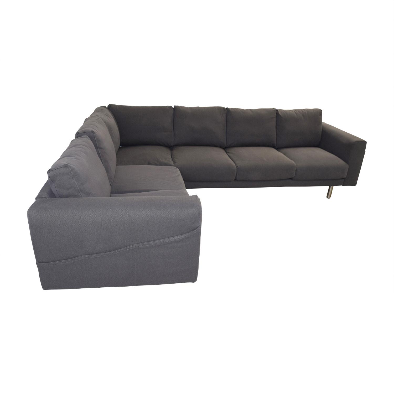 53 off ikea ikea norsborg grey l shaped sectional sofas. Black Bedroom Furniture Sets. Home Design Ideas
