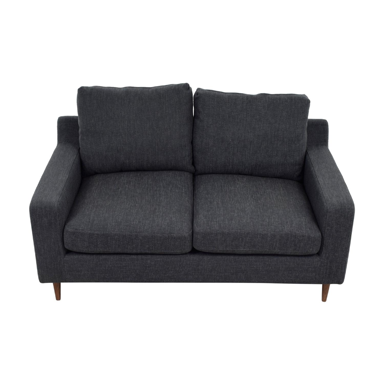 Sloan Grey Two Cushion Loveseat