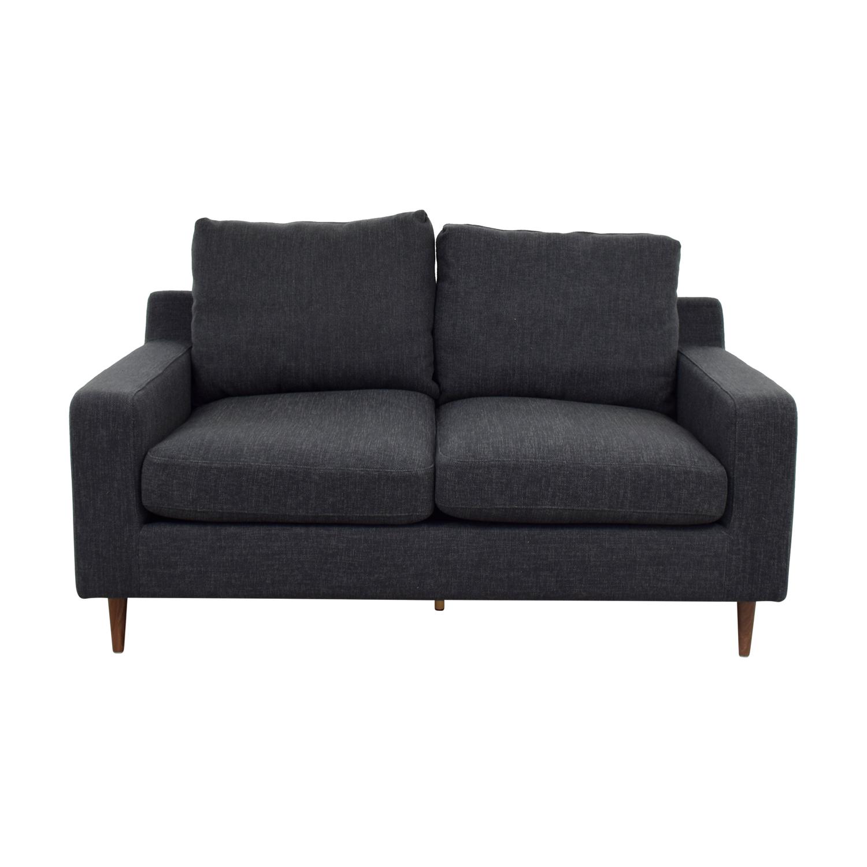 buy Sloan Grey Two Cushion Loveseat online