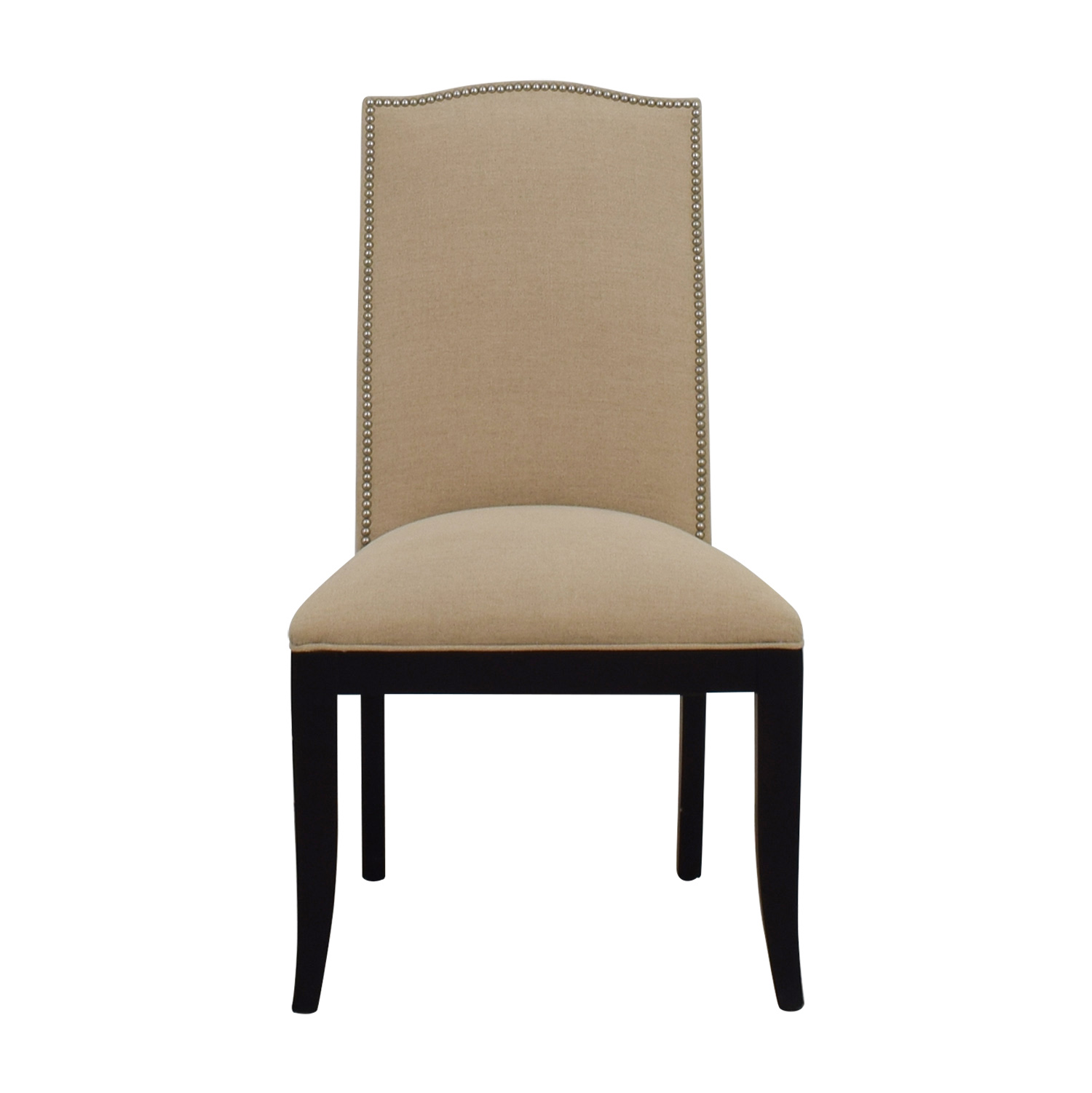 Crate U0026 Barrel Crate U0026 Barrel Colette Beige Nailhead Dining Chair ...