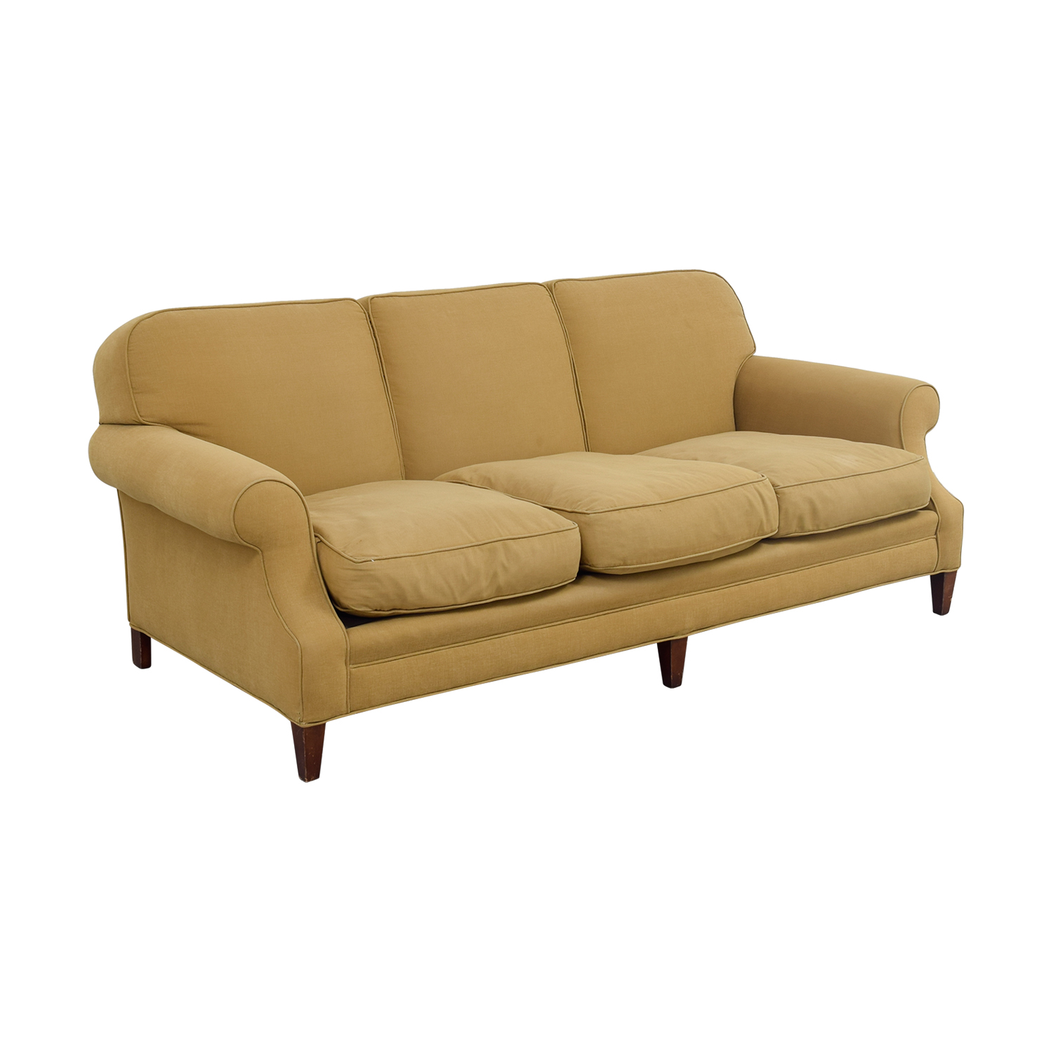 buy Beige Three Cushion Couch Classic Sofas