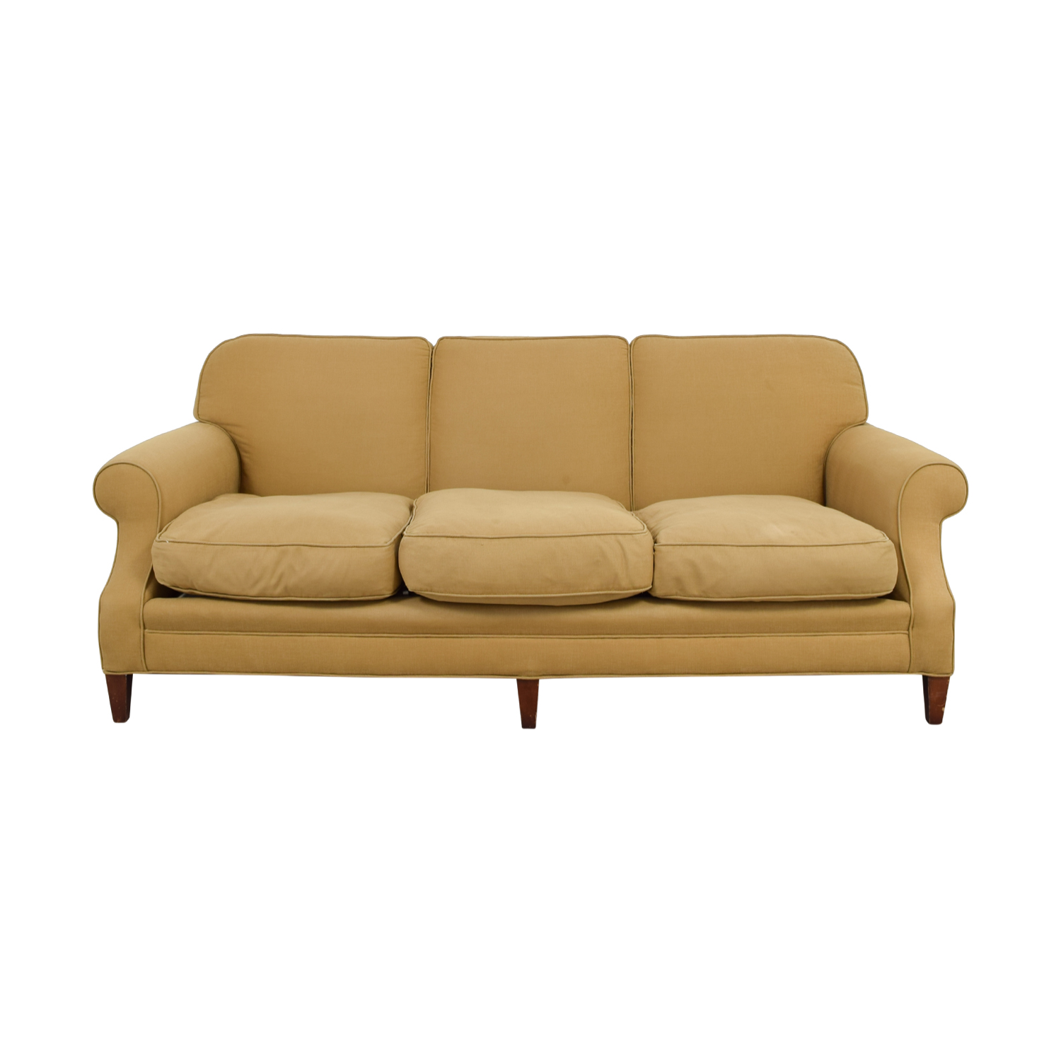 Beige Three Cushion Couch nj
