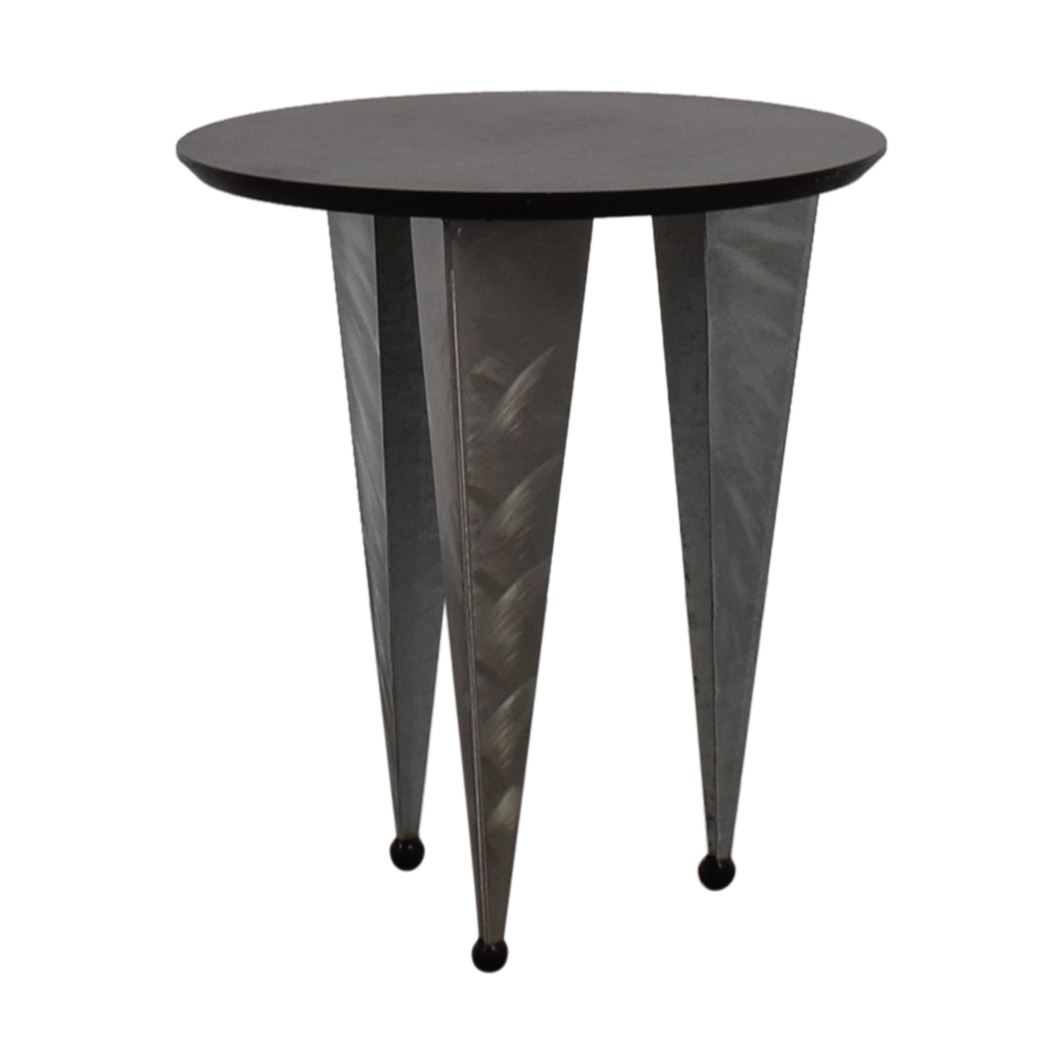 Art Deco Black Round Top With Metallic Legs End Table Coupon