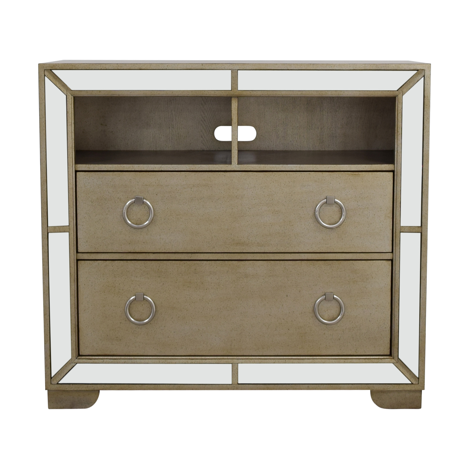 buy Z-Gallerie Art Deco Silver and Mirrored Dresser Z-Gallerie Storage
