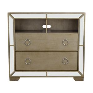 Z-Gallerie Art Deco Silver and Mirrored Dresser Z Gallerie