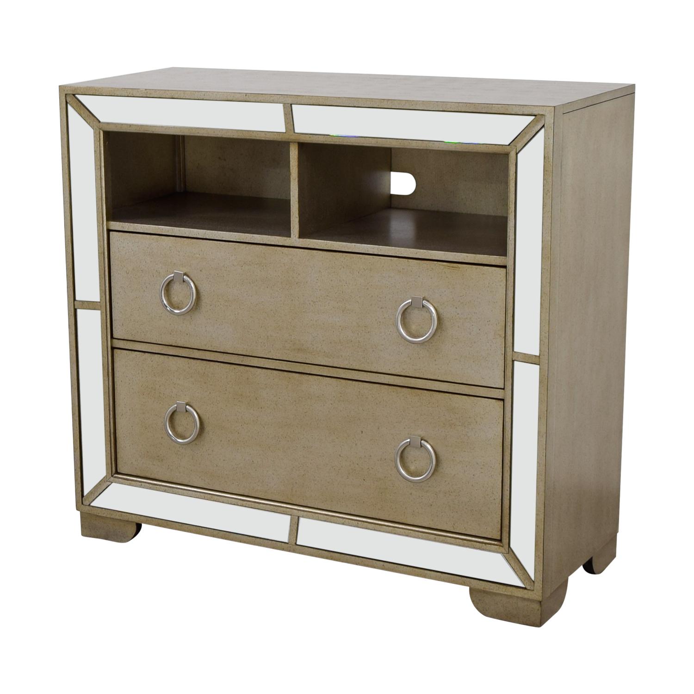 55 Off Z Gallerie Z Gallerie Art Deco Silver And Mirrored Dresser Storage