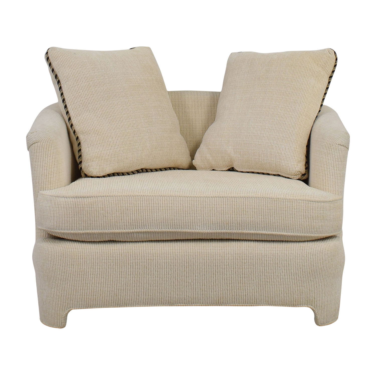 Off White Accent Chair with Pillows coupon