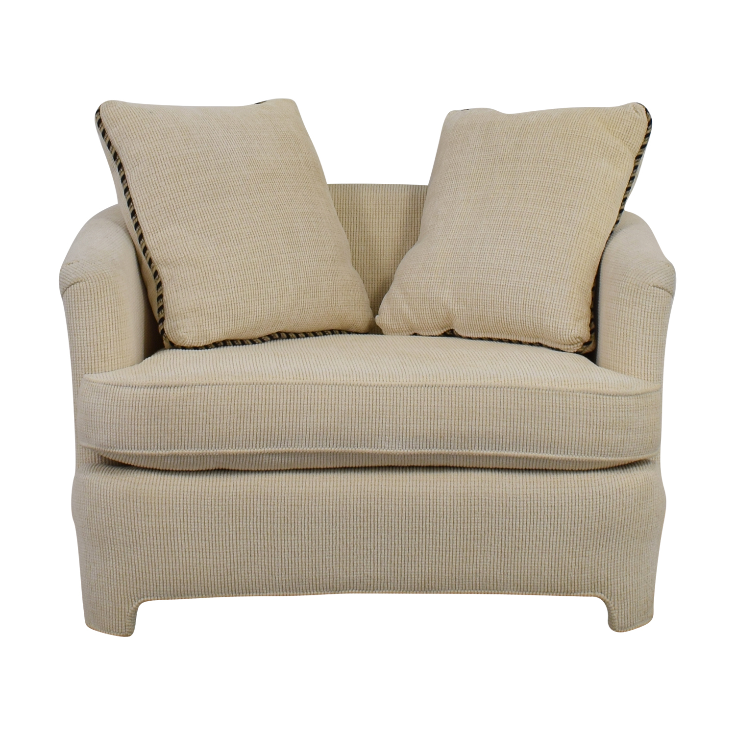 Off White Accent Chair With Pillows Coupon ...