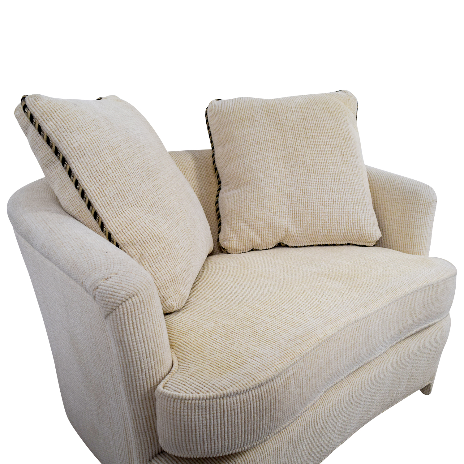 White Accent Furniture: Off White Accent Chair With Pillows / Chairs