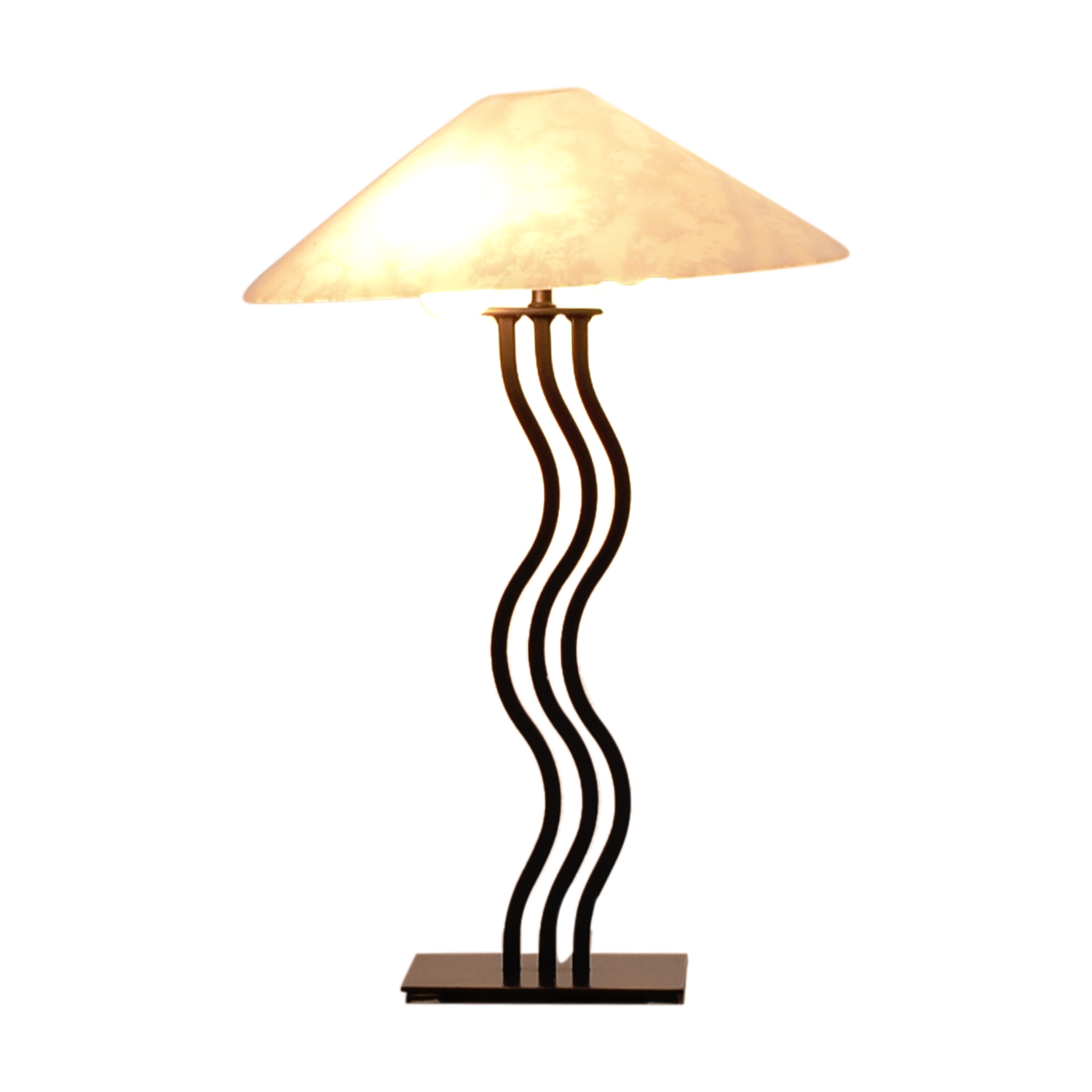 Art Deco Wave Table Lamp on sale