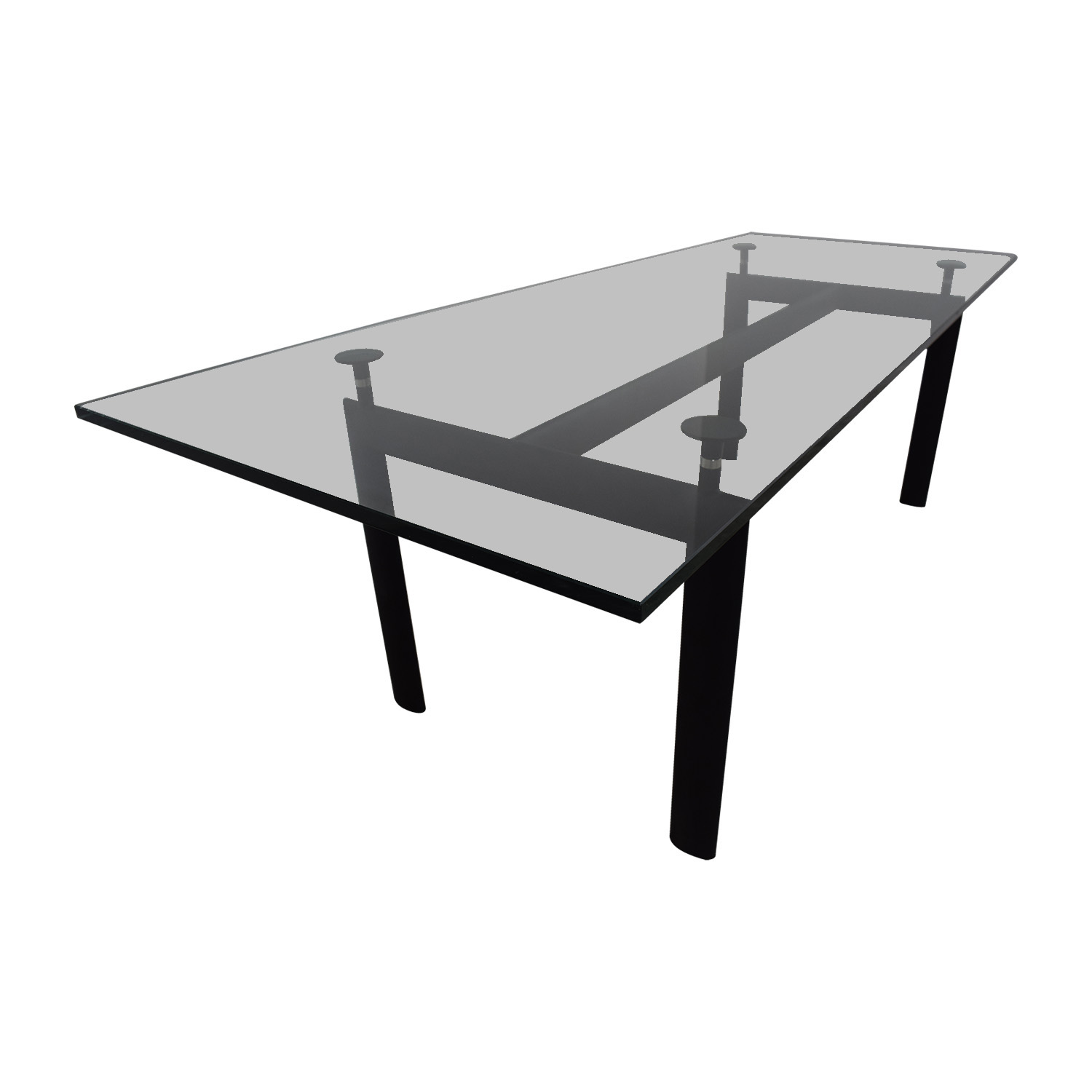 ... Shop Kardiel LC6 Black Base And Glass Top Dining Table Kardiel ...