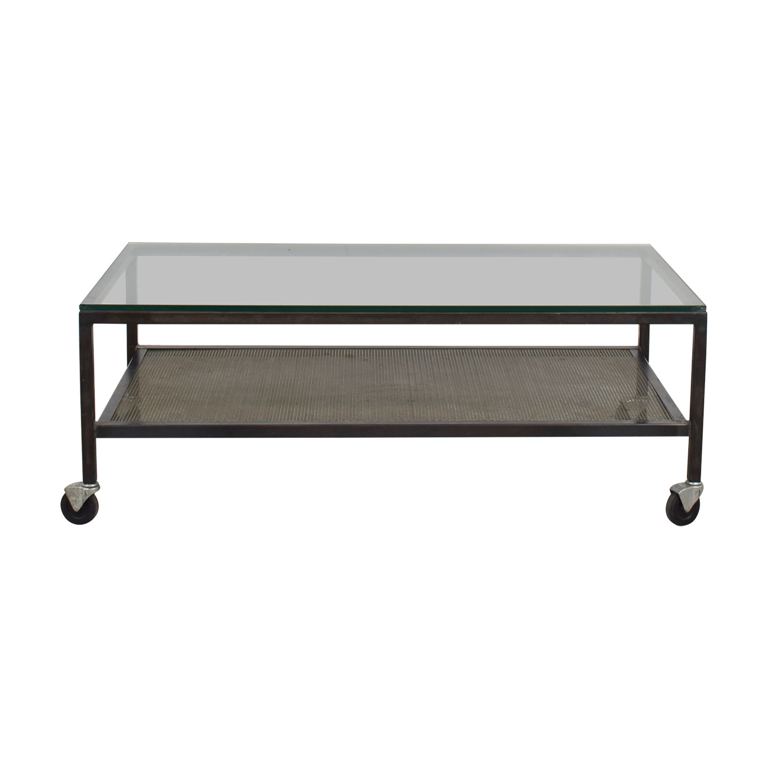 Mitchell Gold + Bob Williams Mitchell Gold + Bob Williams Industrial Glass Coffee Table on Castors price
