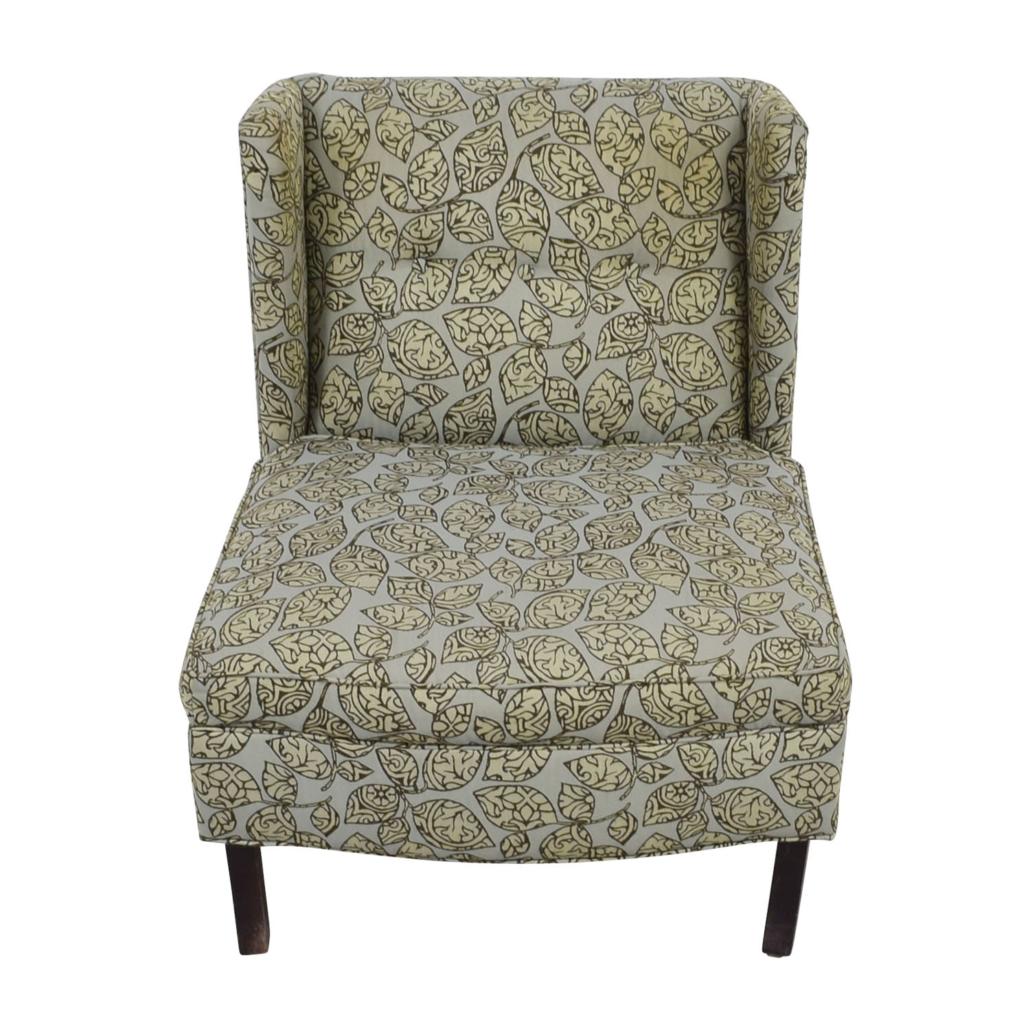 Restoration Hardware Restoration Hardware Green and Grey Lounge Accent Chair used