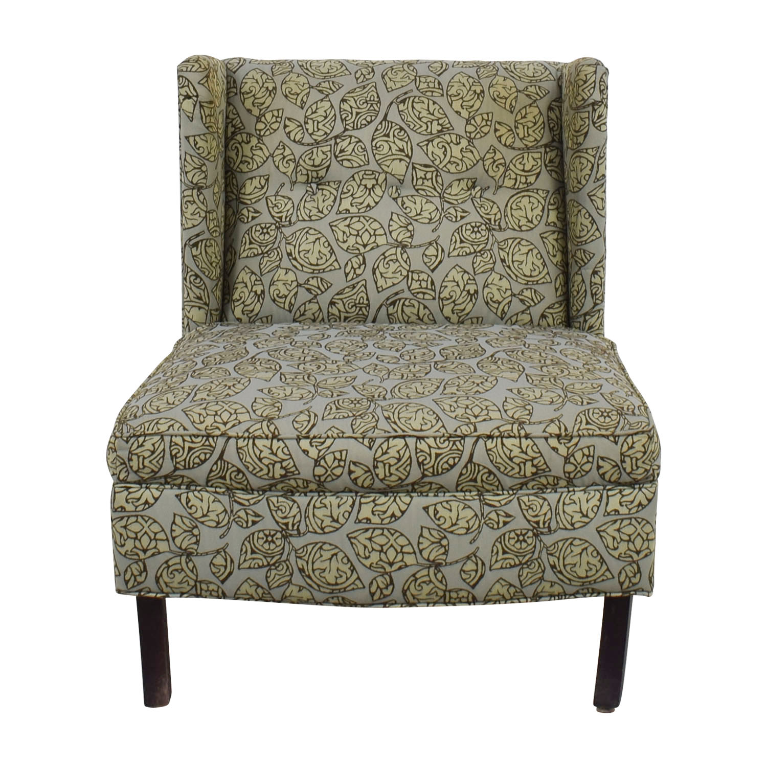 Restoration Hardware Restoration Hardware Green and Grey Lounge Accent Chair GREEN/GREY