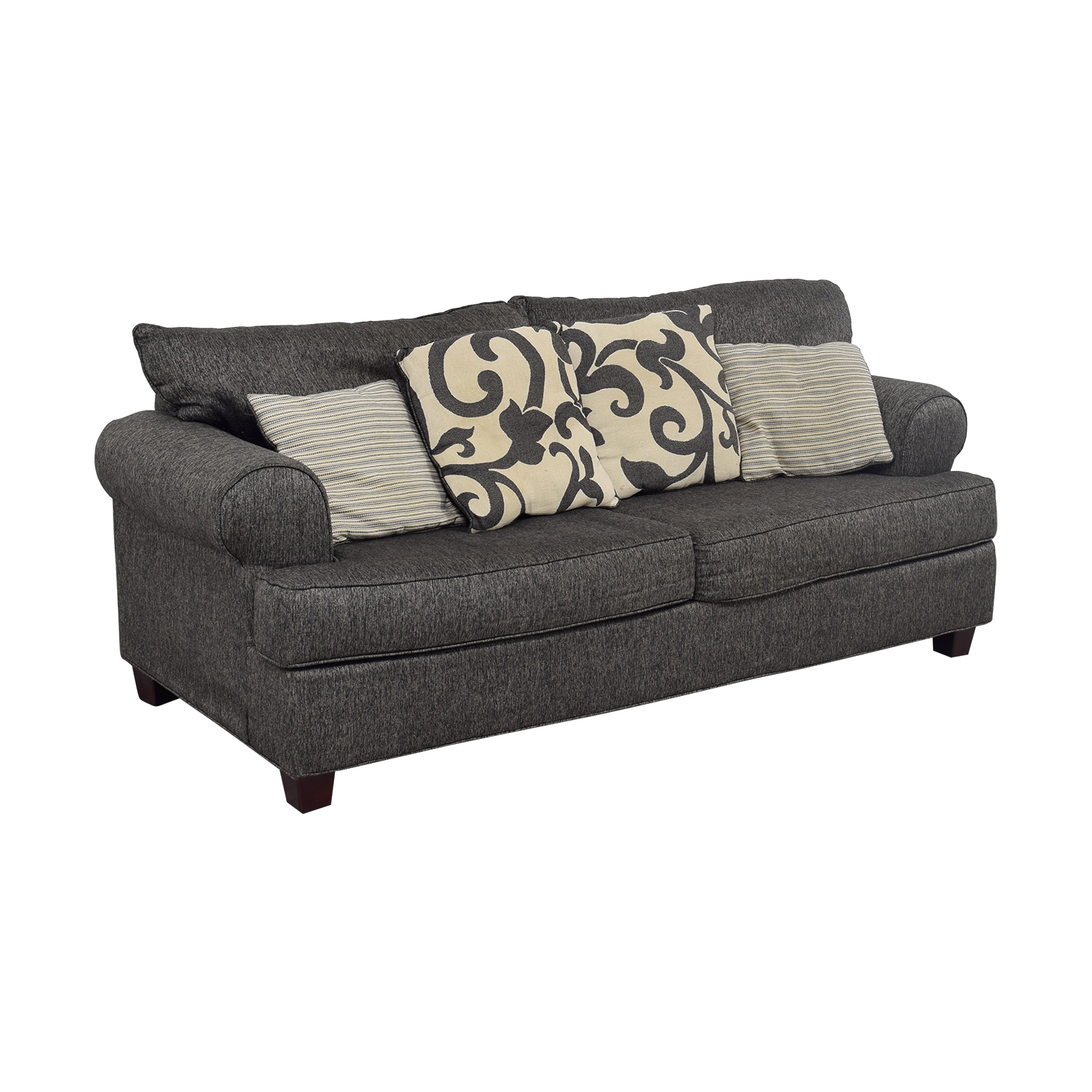 Bob's Furniture Bob's Furniture Big Grey Two-Seater Sofa dimensions