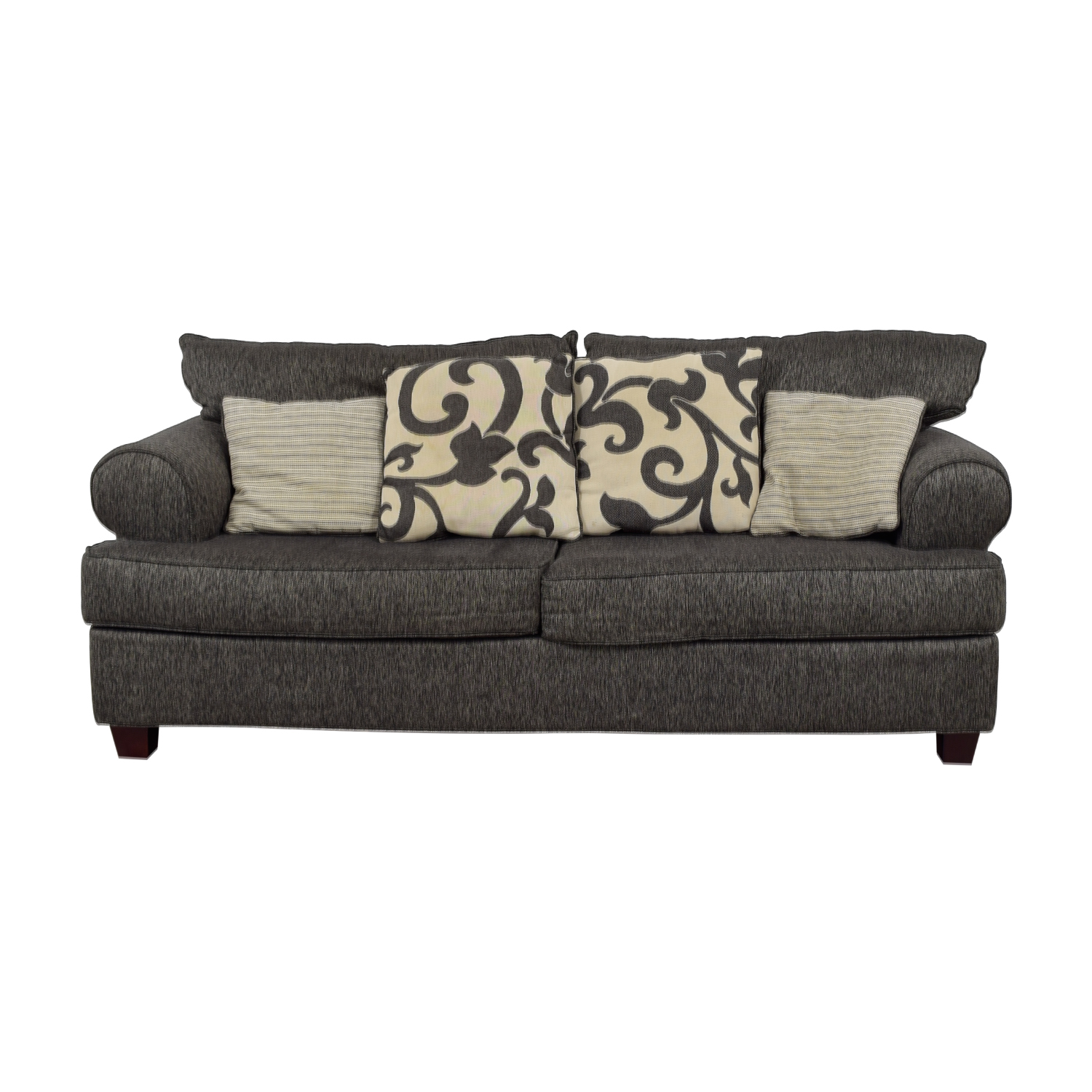 Bob's Furniture Big Grey Two-Seater Sofa Bob's Furniture