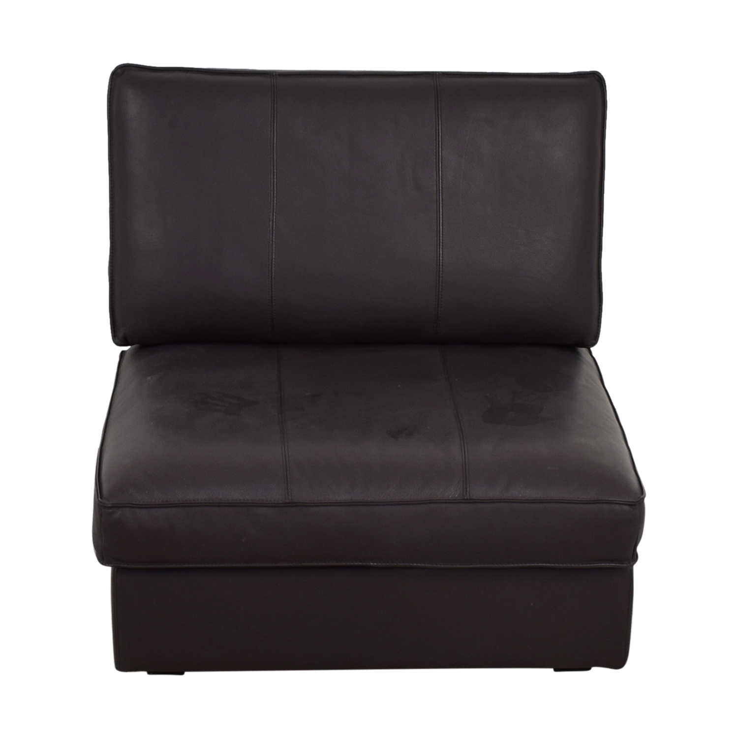 IKEA IKEA Brown Leather Accent Chair discount