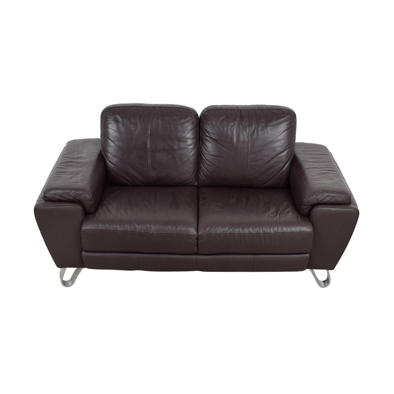 buy Michael Angelo Design Michael Angelo Design Brown Leather Loveseat online