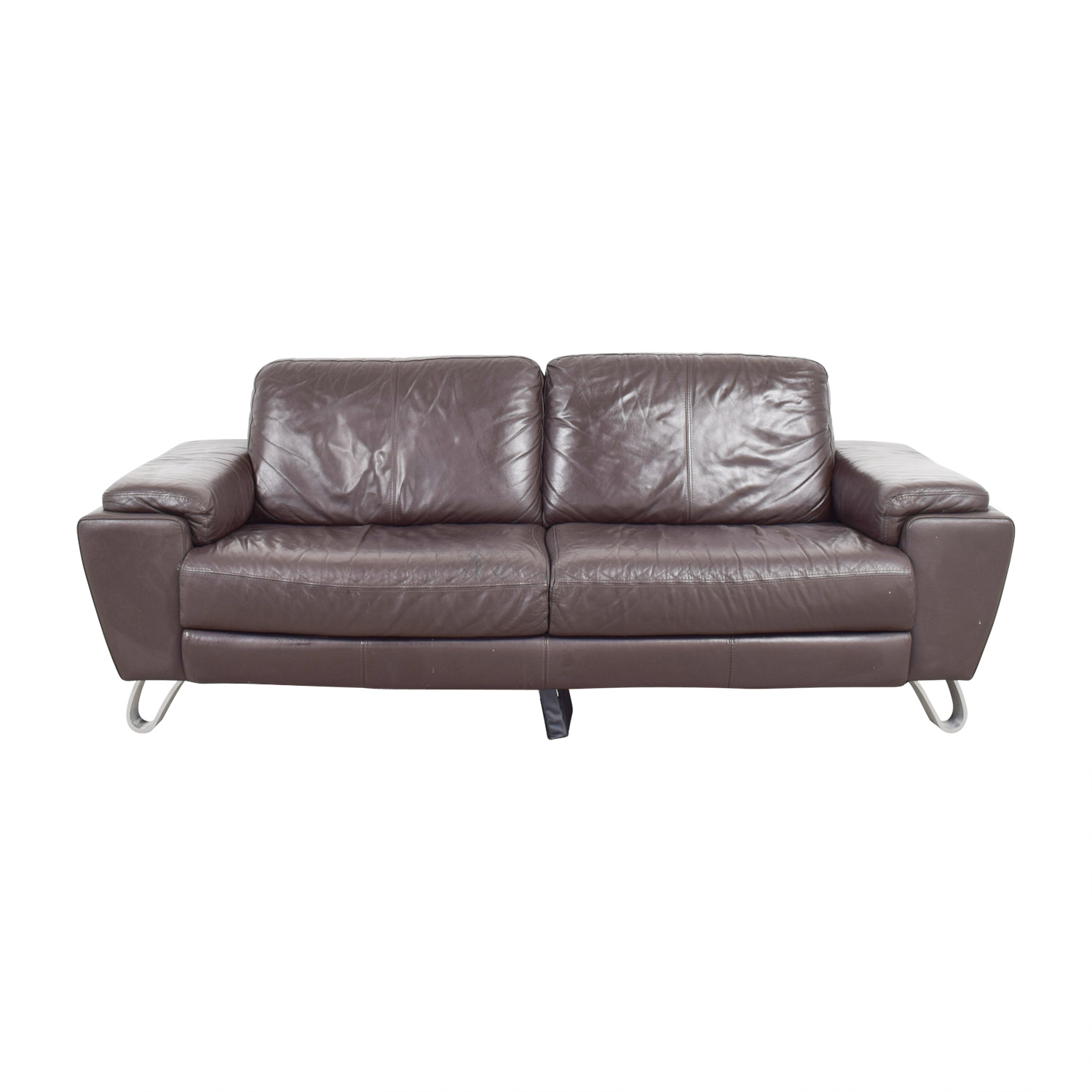 Michael Angelo Design Brown Leather Sofa / Sofas