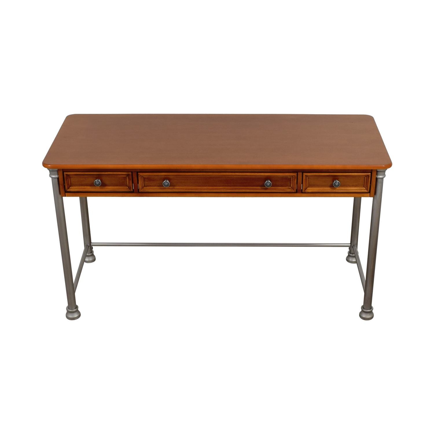 buy Homestyle Homestyle Two Drawer Desk with Keyboard Drawer online