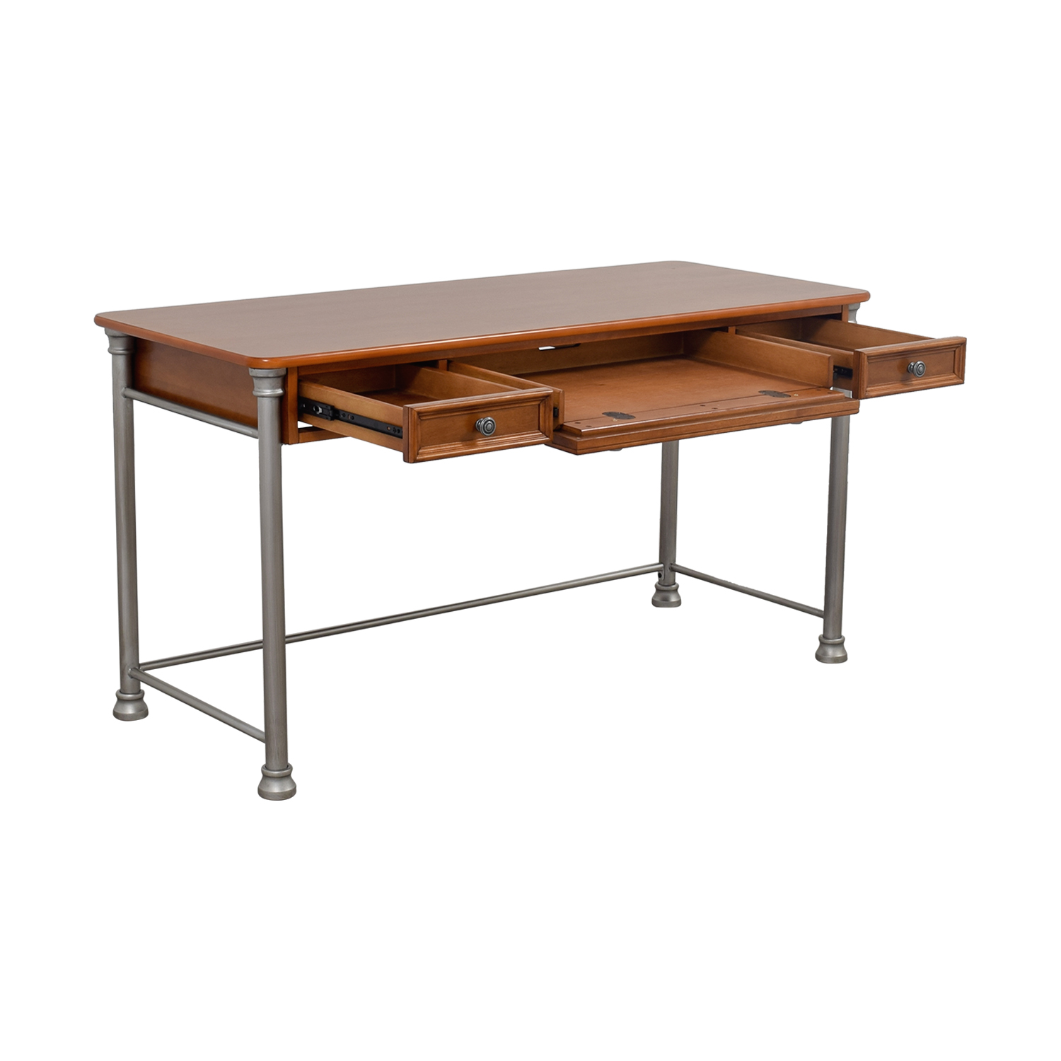 buy Homestyle Two Drawer Desk with Keyboard Drawer Homestyle Tables