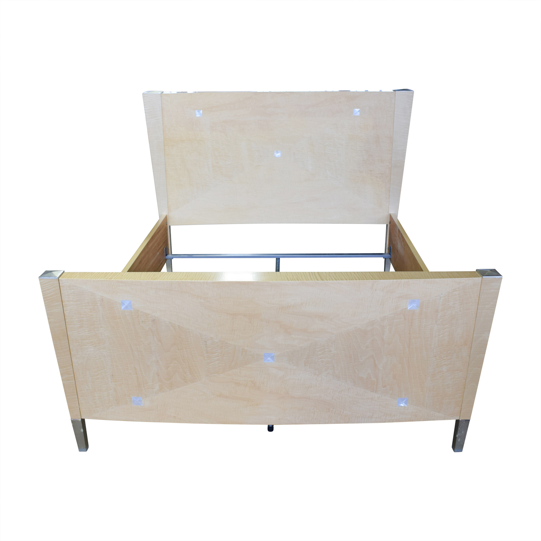 90% OFF - Natural Wood King Bed Frame / Beds