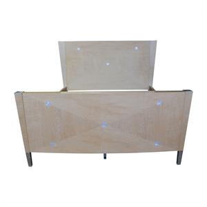 Natural Wood King Bed Frame sale