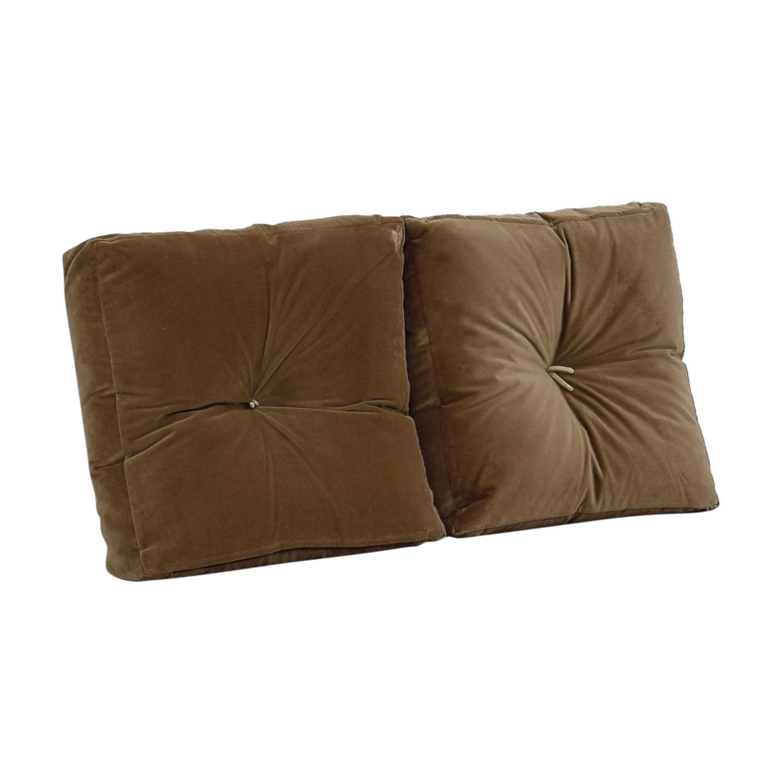 shop Tan Tufted Toss Pillows