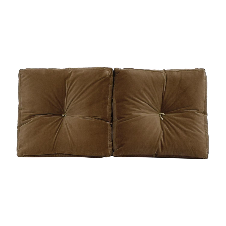 Tan Tufted Toss Pillows second hand