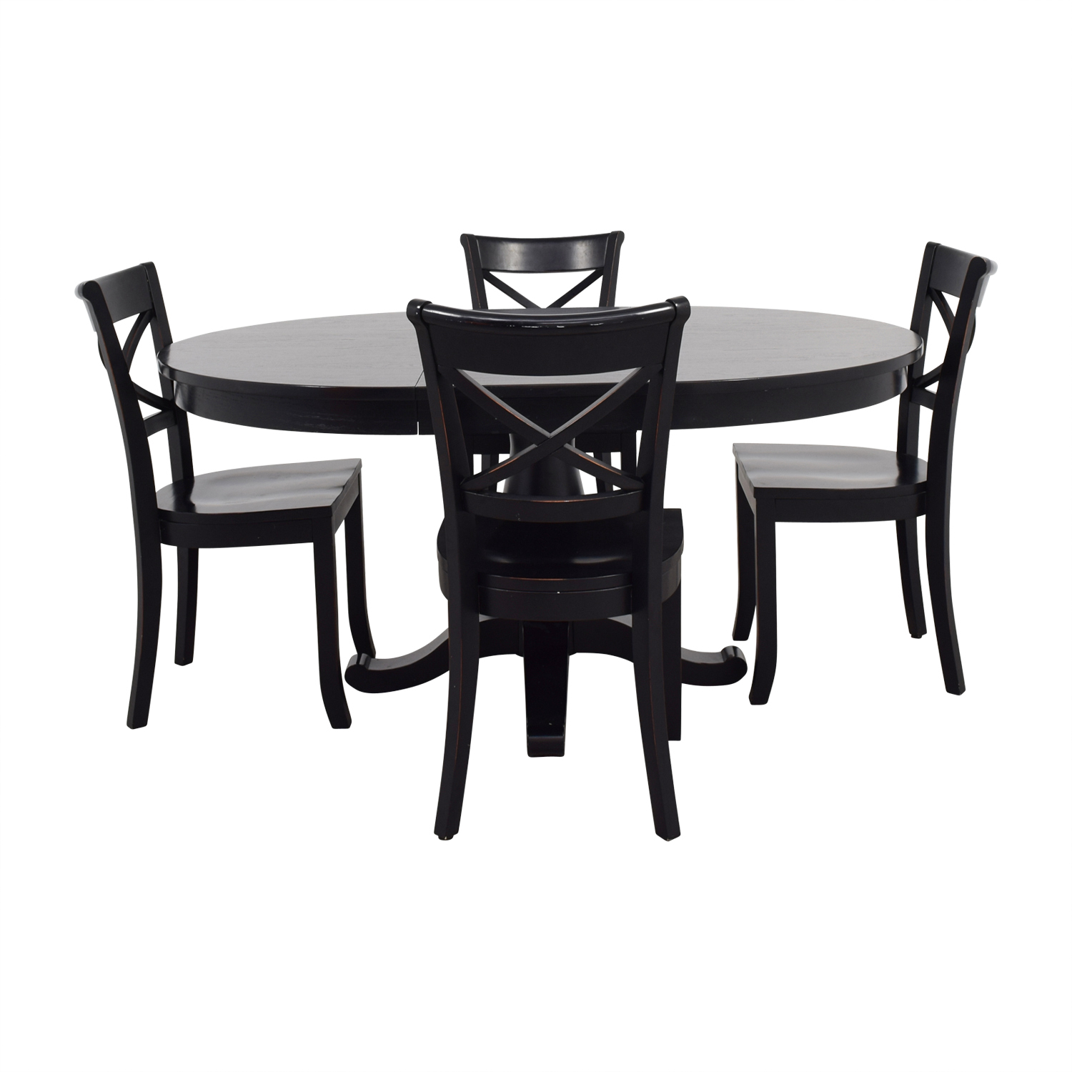 Crate & Barrel Crate & Barrel Avalon Black Dining Set Sofas