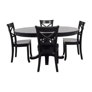 Crate & Barrel Avalon Black Dining Set sale