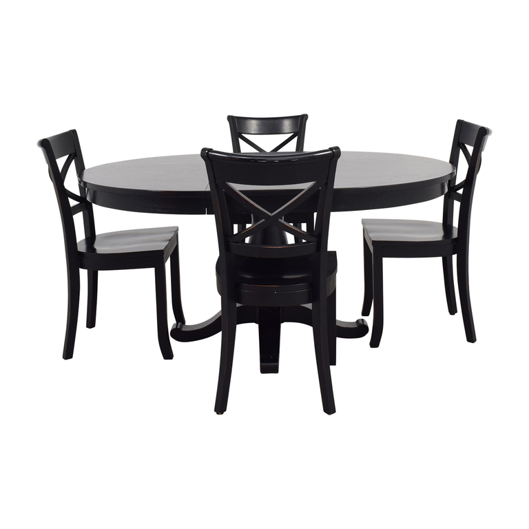 Crate & Barrel Avalon Black Dining Set sale