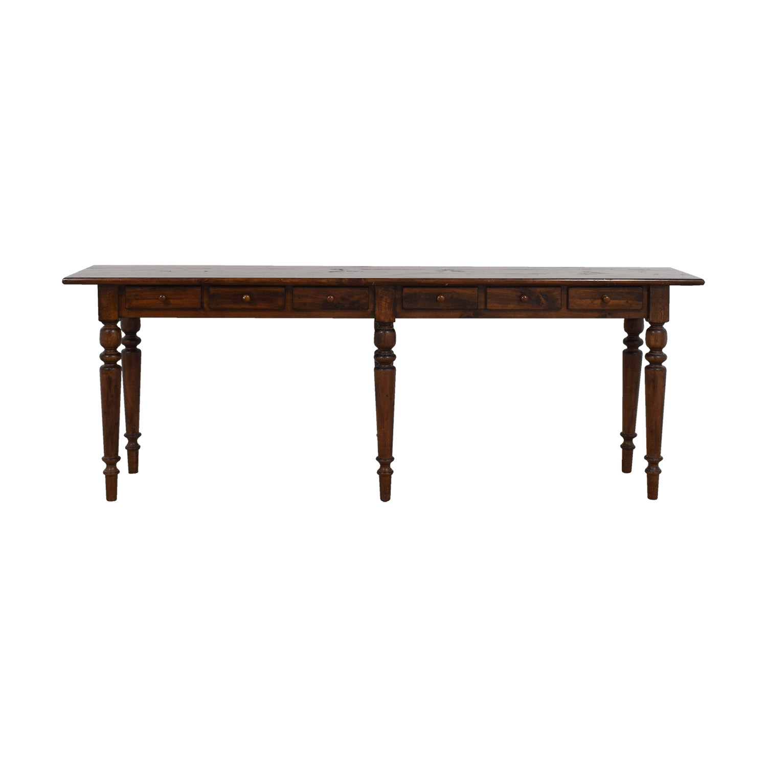 Shop Pottery Barn Tivoli Six Drawer Console Table Pottery Barn Tables ...