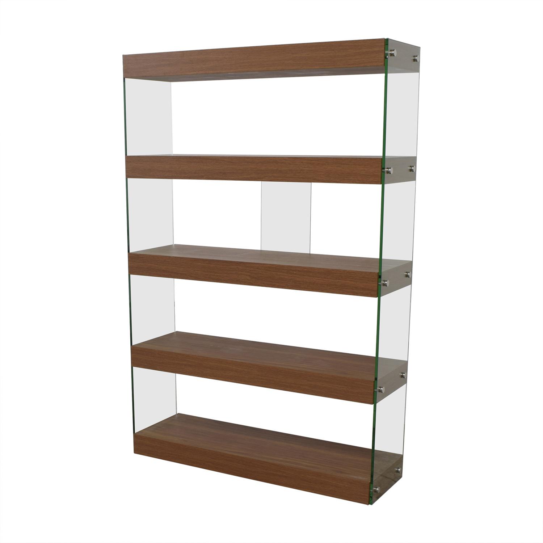 buy Made.com Wood and Glass Bookcase Made.com Storage