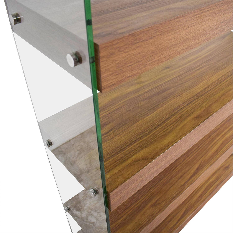 shop Made.com Wood and Glass Bookcase Made.com Storage