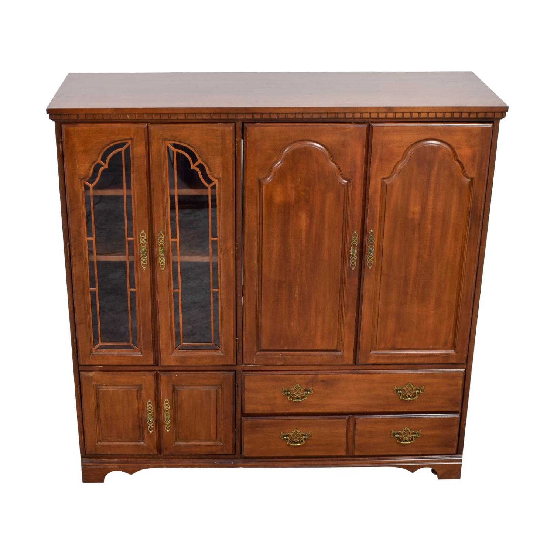 JC Penney JC Penney Wood Media Storage Cabinet discount
